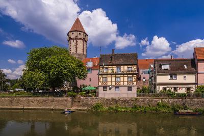 Germany, Baden-WŸrttemberg, Main-Tauber-Region, Wertheim, Tauberufer-Udo Siebig-Photographic Print