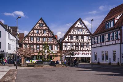 Germany, Baden-Wurttemberg, Metropolregion Stuttgart, Kirchheim Unter Teck, Marketplace-Udo Siebig-Photographic Print
