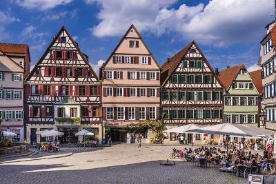 Germany, Baden-Wurttemberg, Neckartal (Neckar Valley), T?bingen, Marktplatz (Market Square-Udo Siebig-Photographic Print