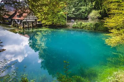 Germany, Baden-Wurttemberg, Swabian Alp, Blautal (Blau Valley), Blaubeuren-Udo Siebig-Photographic Print