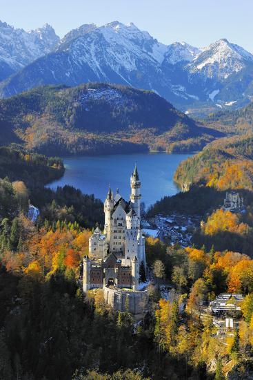 Germany, Bavaria, Allg?u, Neuschwanstein Castle-Herbert Kehrer-Photographic Print