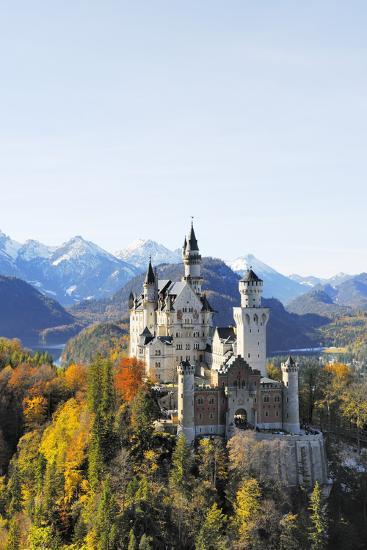 Germany, Bavaria, AllgŠu, Neuschwanstein Castle-Herbert Kehrer-Photographic Print