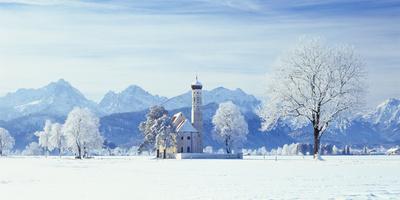 Germany, Bavaria, AllgŠu, Schwangau, Pilgrimage Church Saint Coloman-Herbert Kehrer-Photographic Print