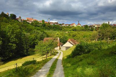 Germany, Bavaria, Central Franconia, Rothenburg Ob Der Tauber, Townscape, Cloudy Sky-Andreas Vitting-Photographic Print