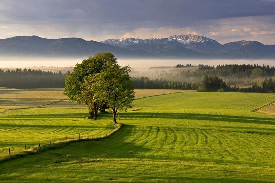 Germany, Bavaria, Faistenberg, View at Zwiesel, Benediktenwand, Bavarian Alpine Foothills-Bernd Rommelt-Photographic Print