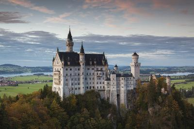 Germany, Bavaria, Hohenschwangau, Castle, Marienbrucke Bridge View, Dusk-Walter Bibikow-Photographic Print