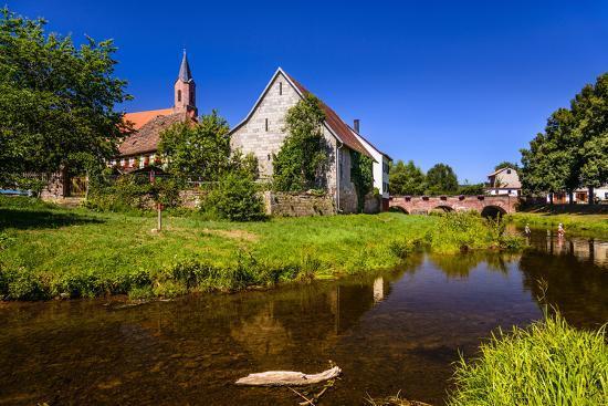 Germany, Bavaria, Lower Franconia, 'Fr?nkisches Saaletal' (Saale Valley), Gr?fendorf-Udo Siebig-Photographic Print