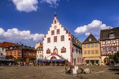 Germany, Bavaria, Lower Franconia, Main-Franconia, Karlstadt, 'Marktplatz' (Square), City Hall-Udo Siebig-Photographic Print