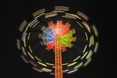 Germany, Bavaria, Munich, Theresienwiese Oktoberfest, Star Flyer Carousel, Night-Udo Siebig-Photographic Print
