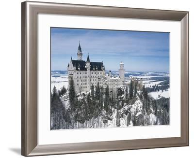 Germany, Bavaria, Surroundings of Fussen, Neuschwanstein Castle--Framed Giclee Print