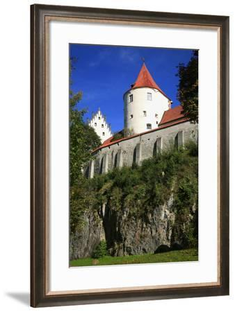 Germany, Bavaria, Tower of the 'Hohes Schloss' (High Castle) at FŸssen, View from the Arboretum-Uwe Steffens-Framed Photographic Print