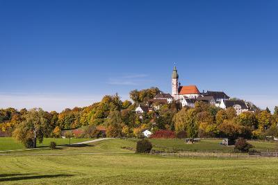 Germany, Bavaria, Upper Bavaria, 'F?nf Seen Land' (Region), Andechs, Autumn Landscape with Andechs-Udo Siebig-Photographic Print