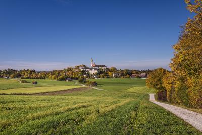 Germany, Bavaria, Upper Bavaria, 'FŸnf Seen Land' (Region), Andechs, Autumn Landscape with Andechs-Udo Siebig-Photographic Print