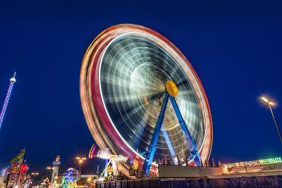 Germany, Bavaria, Upper Bavaria, Munich, Theresienwiese, Oktoberfest, Big Wheel, Evening Mood-Udo Siebig-Photographic Print