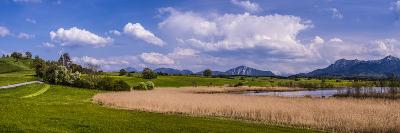 Germany, Bavaria, Upper Bavaria, Pfaffenwinkel, Egling by the Riegsee Lake-Udo Siebig-Photographic Print