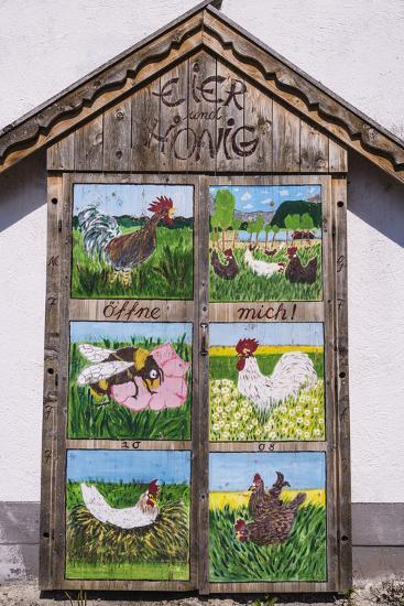 Germany, Bavaria, Upper Bavaria, T?lzer Land, Schlehdorf Am Kochelsee, Sales Cupboard-Udo Siebig-Photographic Print