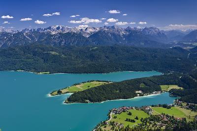 Germany, Bavaria, Upper Bavaria, Walchensee (Lake), Panoramic Views, Herzogstand (Mountain)-Udo Siebig-Photographic Print