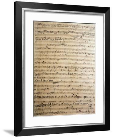 Germany, Bayreuth, Rienzi, the Last of the Tribunes, Autograph Score--Framed Giclee Print