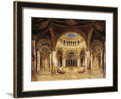 Germany, Bayreuth, Scenic Design for Temple of the Holy Grail, First Act of Parsifal--Framed Giclee Print