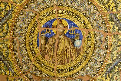 Germany, Berlin. Ornate Mosaic Ceiling of Destroyed Kaiser Wilhelm Memorial Church-Jaynes Gallery-Photographic Print