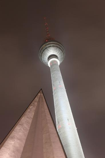 Germany, Berlin, Television Tower, Night, Winter-Catharina Lux-Photographic Print