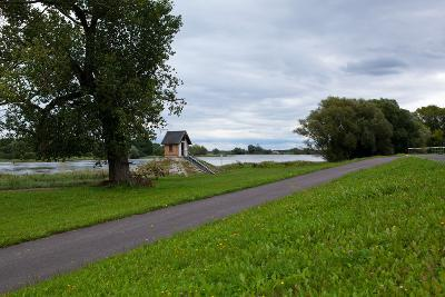 Germany, Brandenburg, Oder-Neisse Cycle Route, Ratzdorf, Water Level Hut-Catharina Lux-Photographic Print
