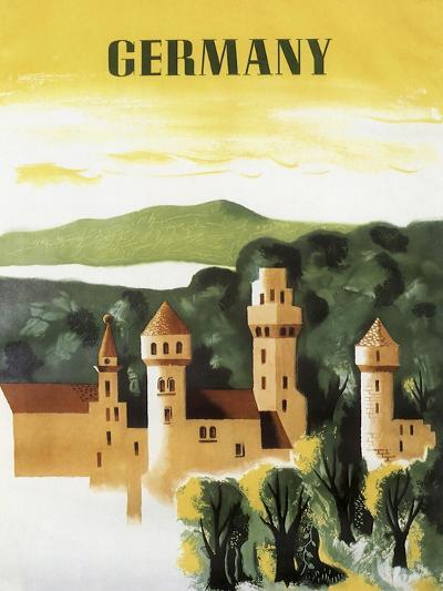 Germany Castle Vint Trav--Giclee Print