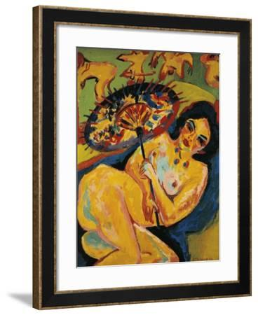 Germany, Dusseldorf, Girl under Japanese Parasol--Framed Giclee Print
