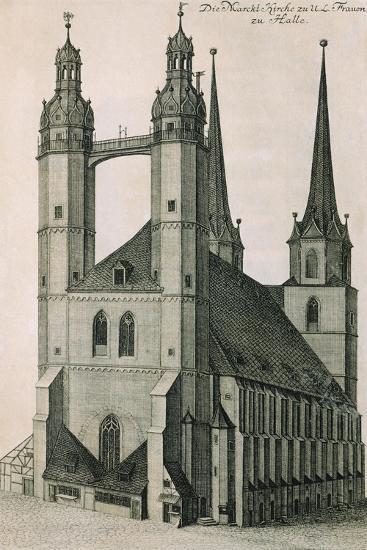 Germany, Halle, Marktkirche--Giclee Print