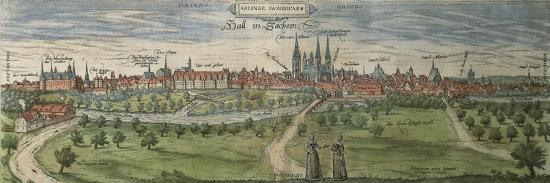 Germany, Halle, View of Halle an Der Saale City--Giclee Print