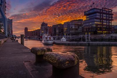Germany, Hamburg, Hafencity, 'Magellan-Terrassen', 'Sandtorkai', 'Sandtorhafen' (Harbour-Ingo Boelter-Photographic Print