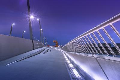 Germany, Hamburg, Harbour, Hafencity, Baakenhafen, BaakenhafenbrŸcke-Ingo Boelter-Photographic Print
