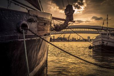 Germany, Hamburg, Harbour, Yach+F2406:F2411Ailing Ship-Ingo Boelter-Photographic Print