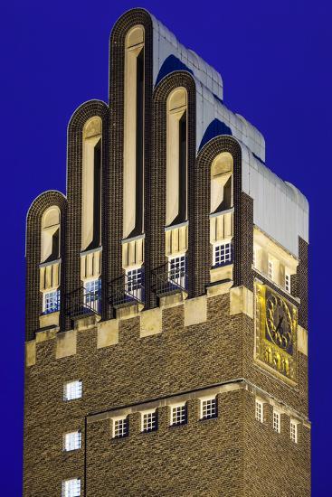 Germany, Hesse, Darmstadt, Mathildenhohe Kunstlerkolonie Park, Wedding Tower-Walter Bibikow-Photographic Print