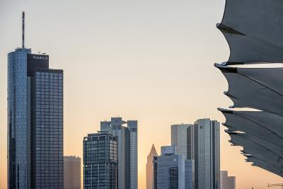 Germany, Hesse, Frankfurt Am Main, Frankfurt, Financial District, Sundown-Bernd Wittelsbach-Photographic Print