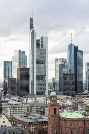 Germany, Hesse, Frankfurt Am Main, Skyline with St Paul's Church-Bernd Wittelsbach-Photographic Print