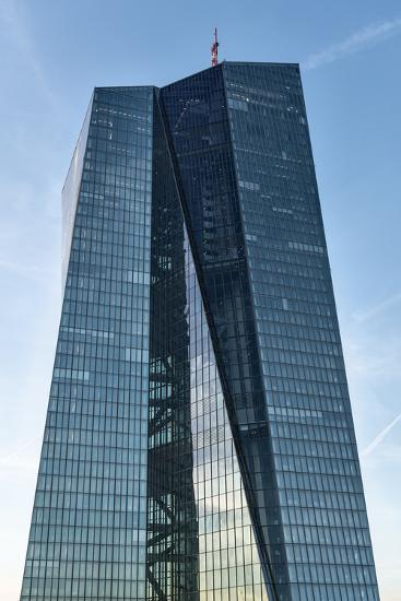 Germany, Hesse, Frankfurt on the Main, New Building of the European Central Bank-Bernd Wittelsbach-Photographic Print