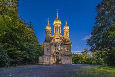 Germany, Hesse, Rheingau Region, Wiesbaden, Neroberg, Russian-Orthodox Church-Udo Siebig-Photographic Print