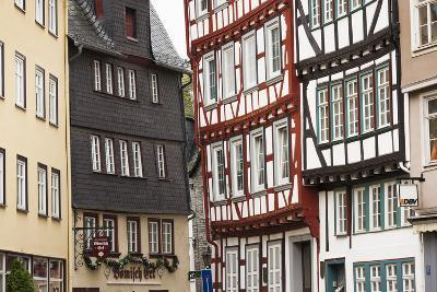 Germany, Hesse, Wetzlar, Half-Timbered Town Buildings-Walter Bibikow-Photographic Print