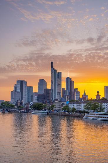 Germany, Hessen, Frankfurt Am Main, City Skyline across River Main-Alan Copson-Photographic Print