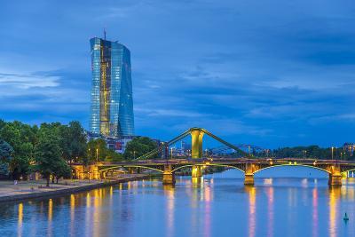 Germany, Hessen, Frankfurt Am Main, Ostend, River Main, New European Central Bank Building-Alan Copson-Photographic Print
