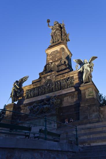 Germany, Hessen, Middle Rhine Valley, RŸdesheim, Niederwalddenkmal-Chris Seba-Photographic Print