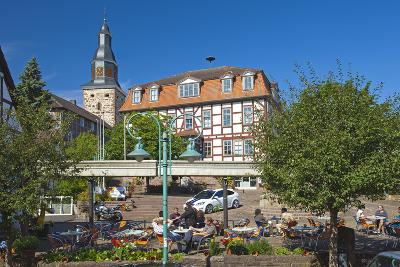 Germany, Hessen, Northern Hessen, Bad Zwesten, Old Town, City Hall, Restaurant-Chris Seba-Photographic Print
