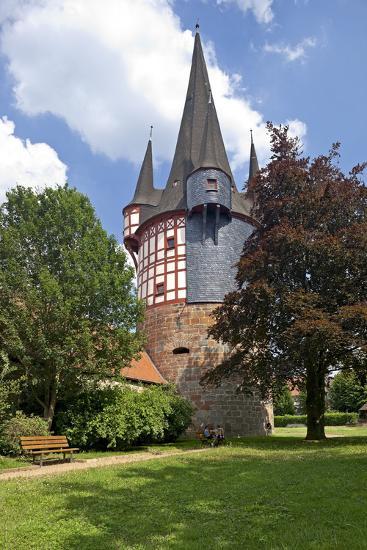 Germany, Hessen, Northern Hessen, Neustadt, Fortified Tower, Middle Ages, Junker Hansen Tower-Chris Seba-Photographic Print