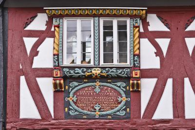 Germany, Hessen, Taunus, German Timber-Frame Road, Bad Camberg, Old Town, Timber-Framed Facade-Udo Siebig-Photographic Print