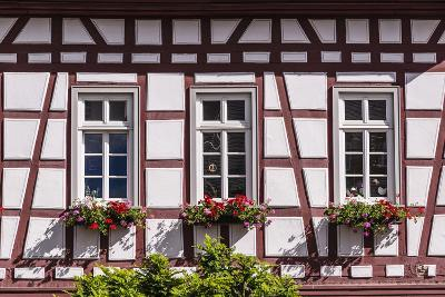 Germany, Hessen, Taunus, German Timber-Frame Road, Idstein, Kšnig-Adolf-Platz, Timber-Framed Facade-Udo Siebig-Photographic Print