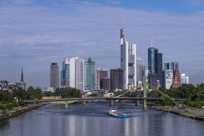 Germany, Hessen, View from DeutschherrnbrŸcke on Main-Udo Siebig-Photographic Print