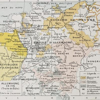 Germany In 1795 Old Map (Peace Of Basel)-marzolino-Art Print