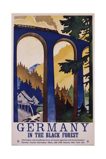 Germany in the Black Forest Poster-Friedel Dzubas-Giclee Print