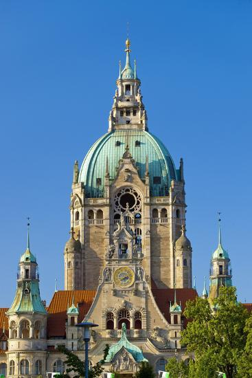 Germany, Lower Saxony, Hannover, Friedrichswall, New City Hall, City Hall Tower-Chris Seba-Photographic Print
